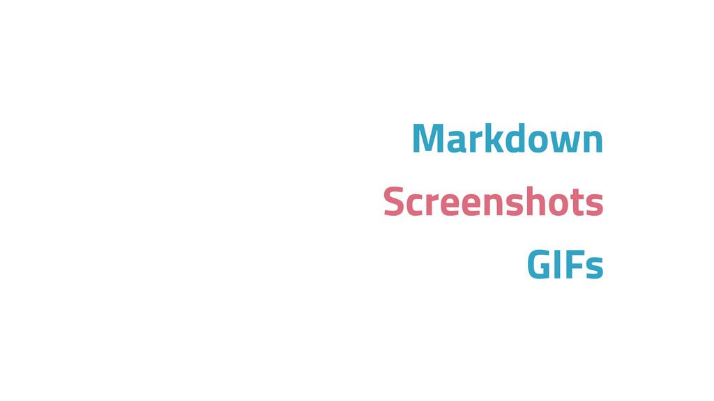 Markdown Screenshots GIFs