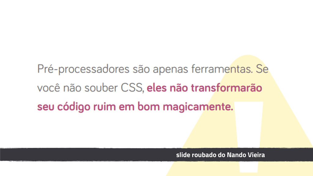 slide roubado do Nando Vieira