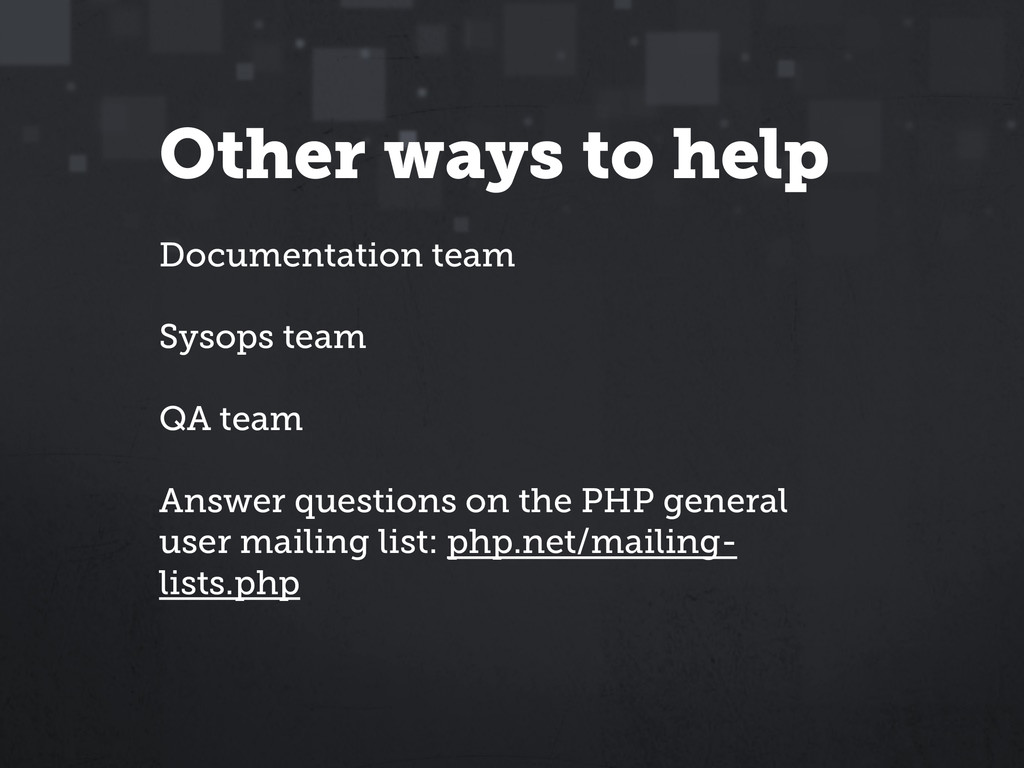 Other ways to help Documentation team Sysops te...