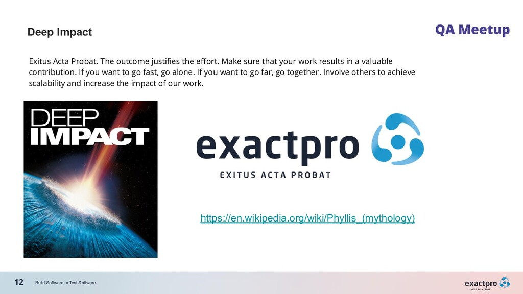 12 Build Software to Test Software Deep Impact ...