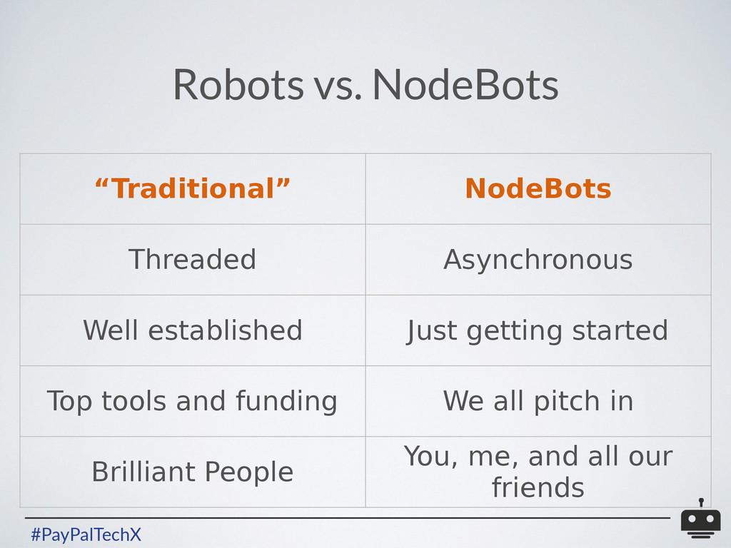"#PayPalTechX Robots vs. NodeBots ""Traditional"" ..."