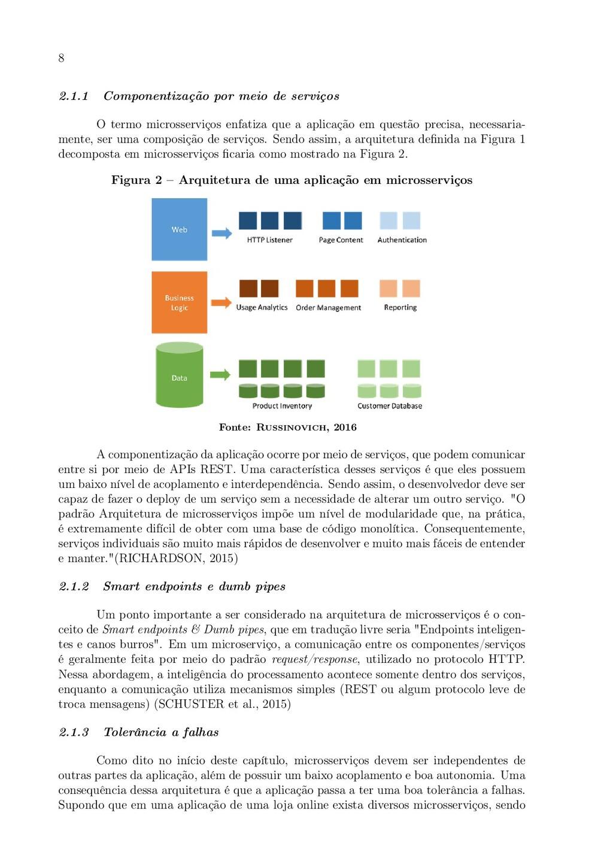 8 2.1.1 Componentização por meio de serviços O ...