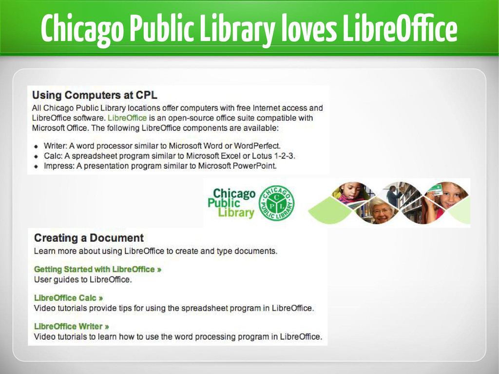 Chicago Public Library loves LibreOffice