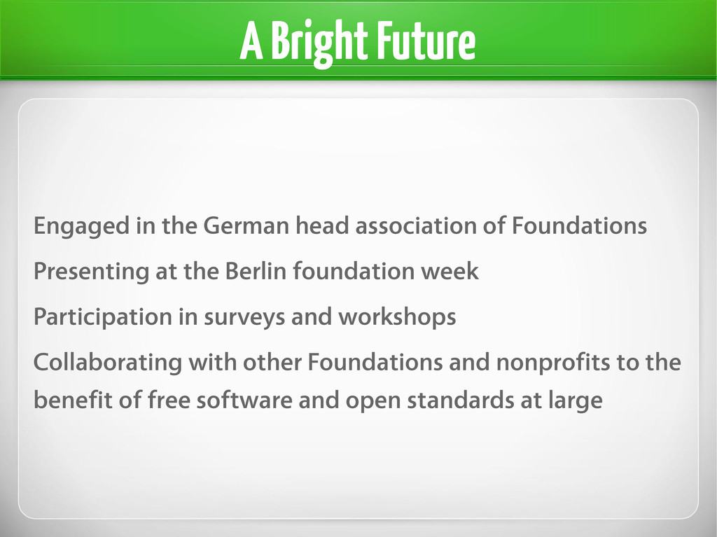 A Bright Future Engaged in the German head asso...