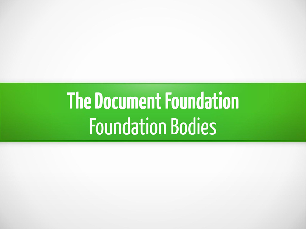 The Document Foundation Foundation Bodies