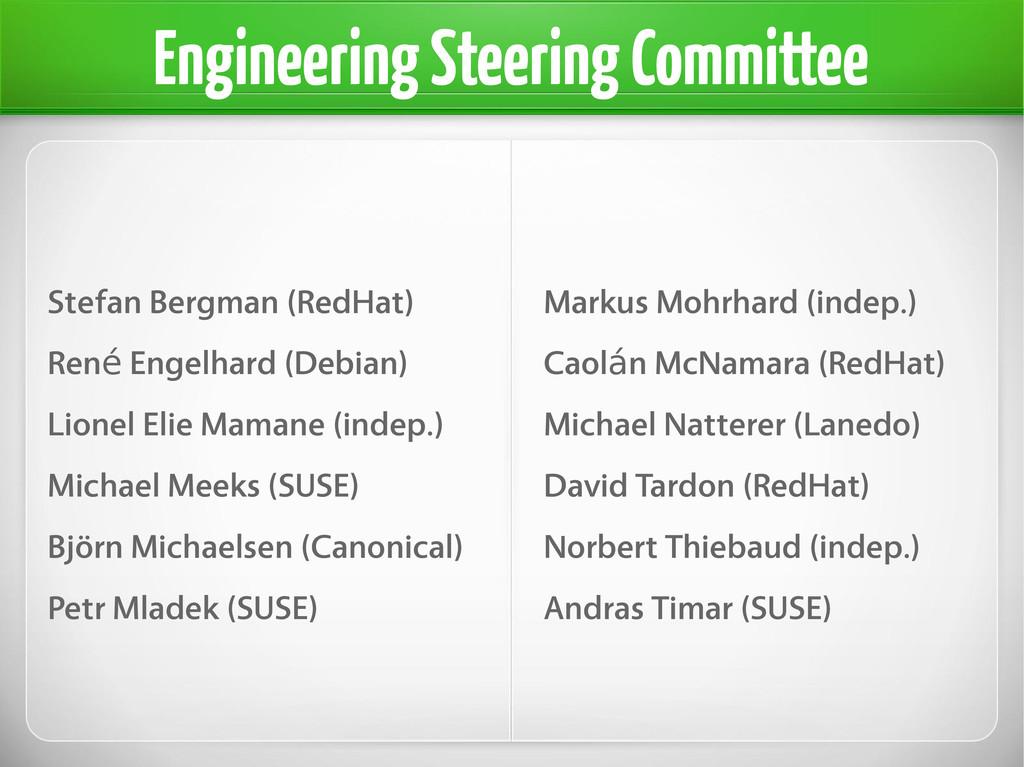 Engineering Steering Committee Stefan Bergman (...