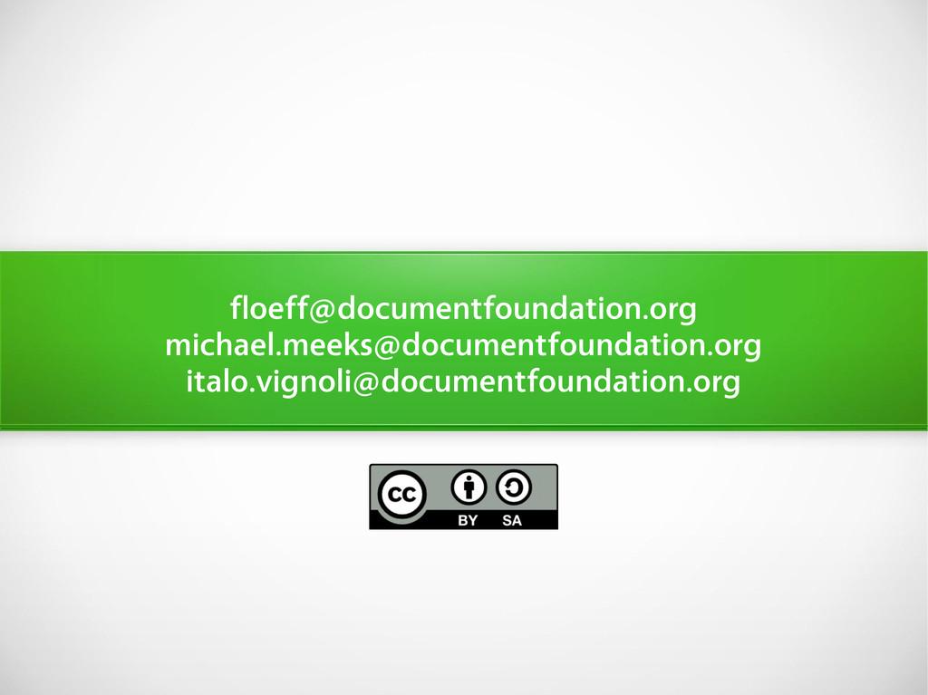 floeff@documentfoundation.org michael.meeks@doc...