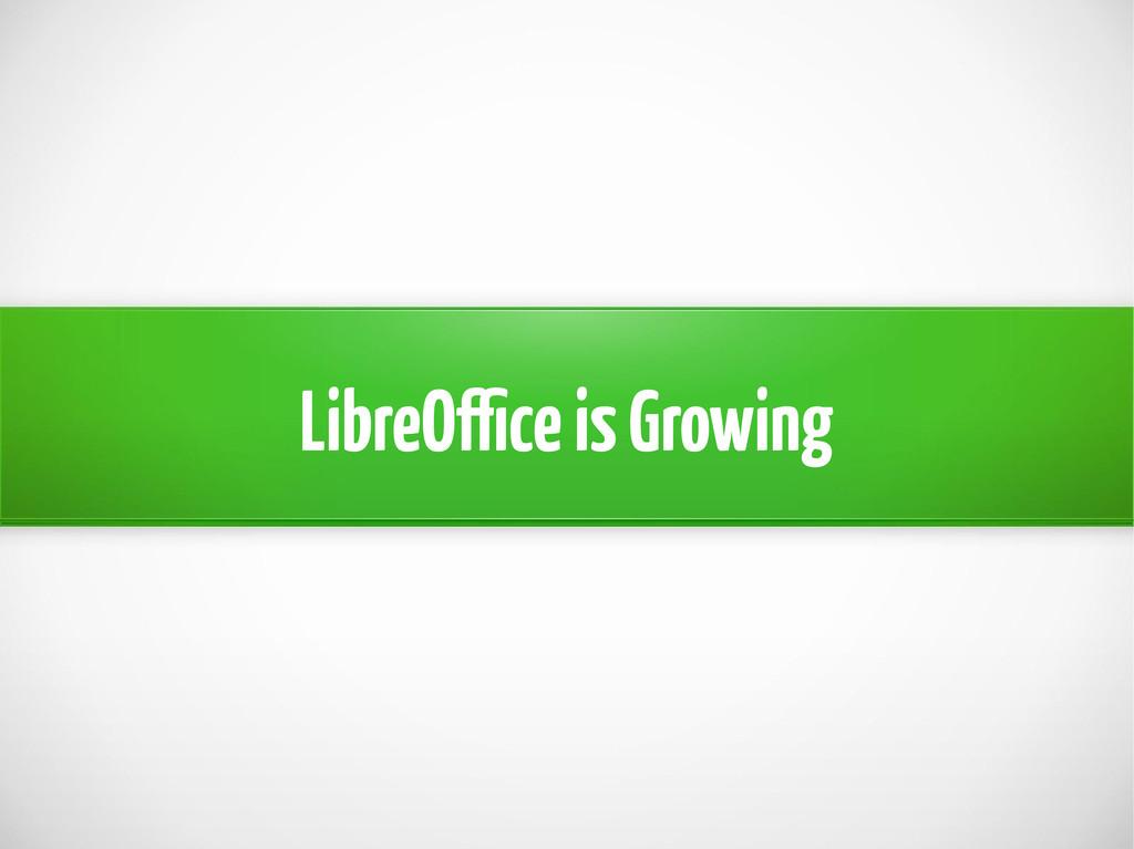 LibreOffice is Growing