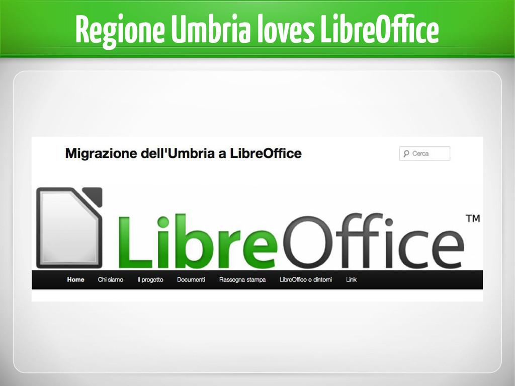 Regione Umbria loves LibreOffice