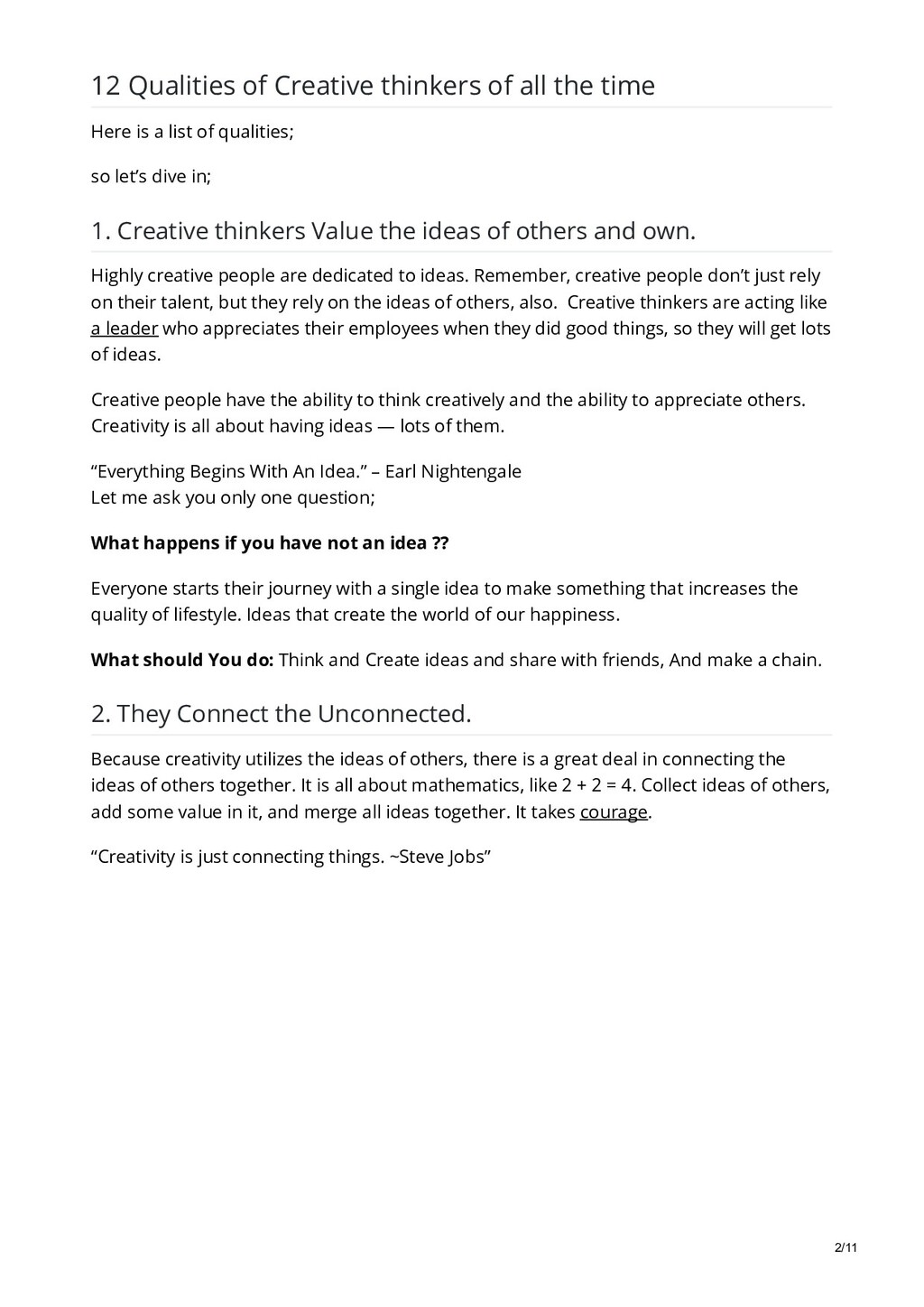 12 Qualities of Creative thinkers of all the ti...