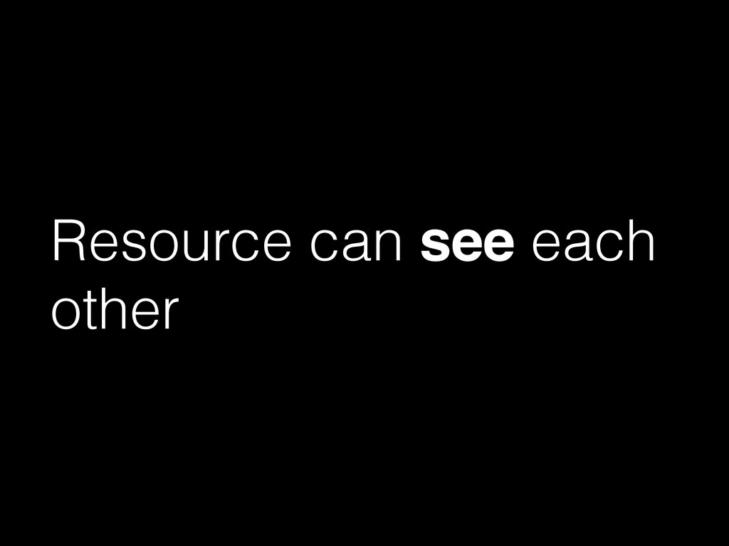 Resource can see each other