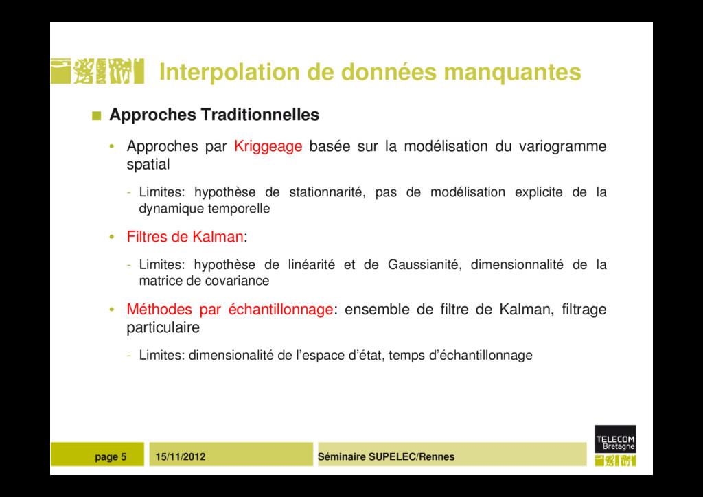 Séminaire SUPELEC/Rennes page 5 15/11/2012 Inte...