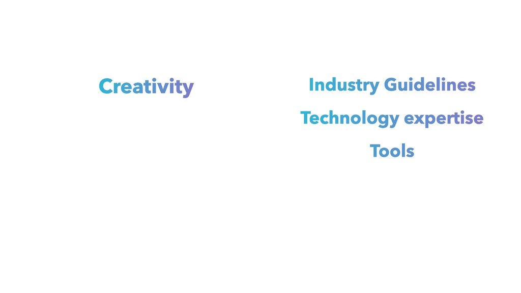 Creativity Industry Guidelines Technology exper...