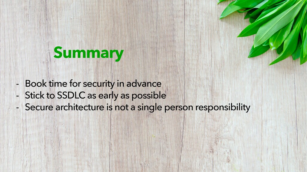 Summary - Book time for security in advance - S...