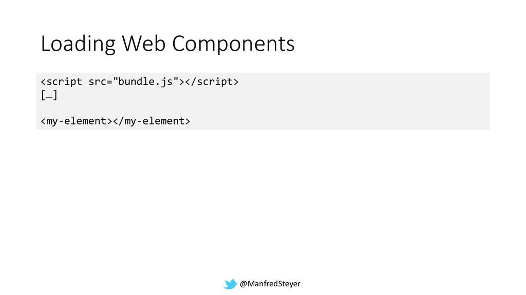 @ManfredSteyer Loading Web Components <script s...