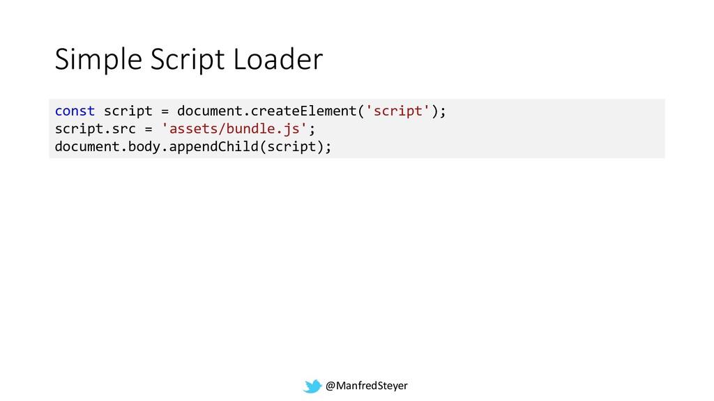 @ManfredSteyer Simple Script Loader const scrip...