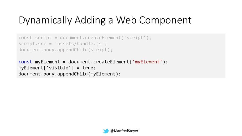 @ManfredSteyer Dynamically Adding a Web Compone...