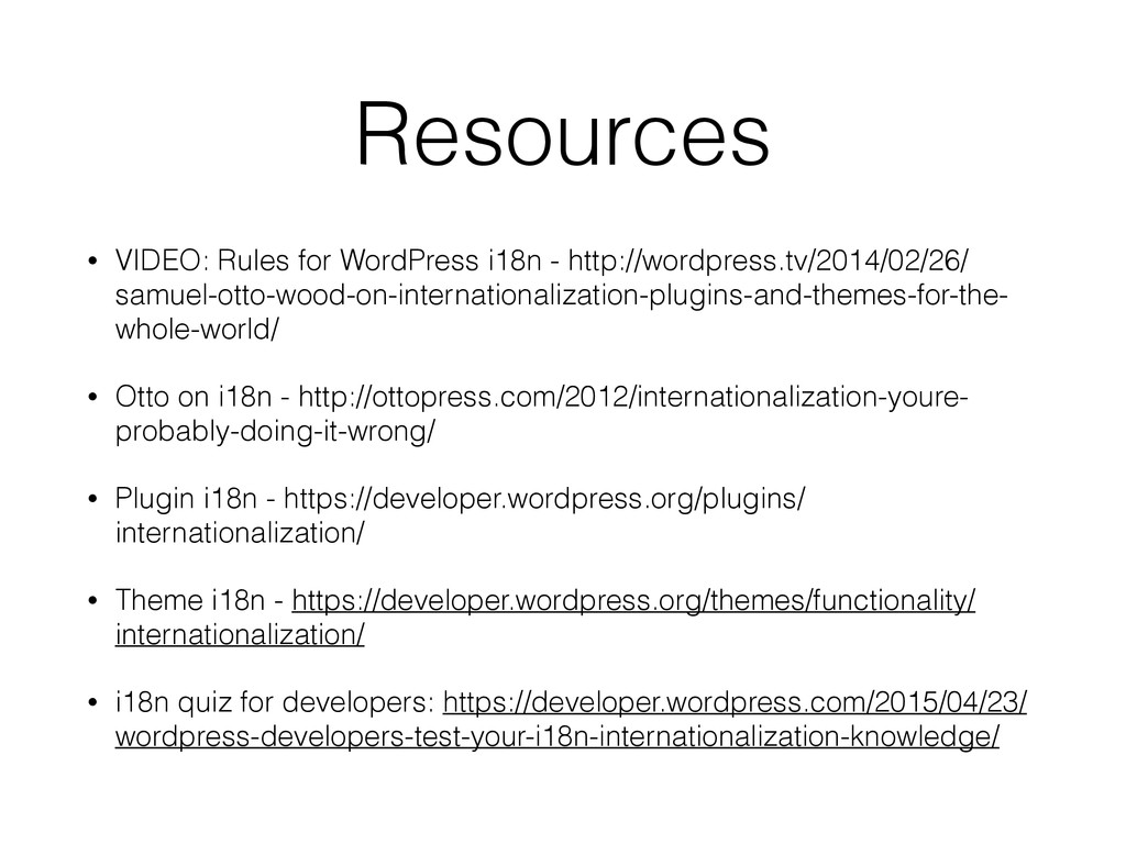 Resources • VIDEO: Rules for WordPress i18n - h...