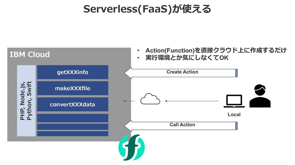Serverless(FaaS)が使える IBM Cloud getXXXinfo Creat...