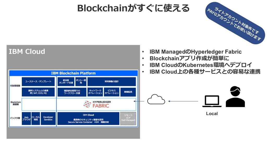 Blockchainがすぐに使える • IBM ManagedのHyperledger Fab...