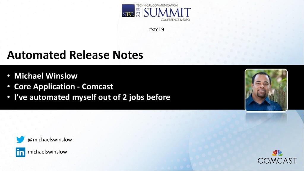 • Michael Winslow • Core Application - Comcast ...