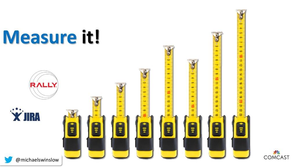 Measure it! @michaelswinslow