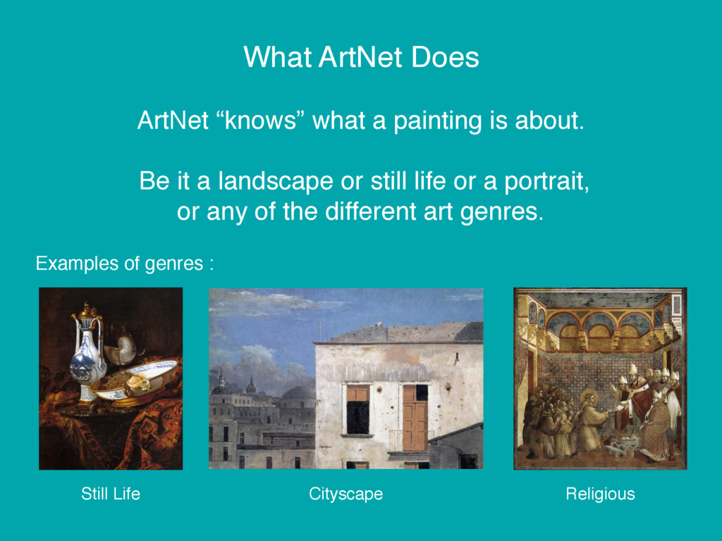 """What ArtNet Does ArtNet """"knows"""" what a painting..."""