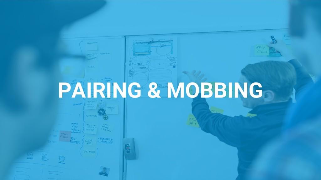 PAIRING & MOBBING