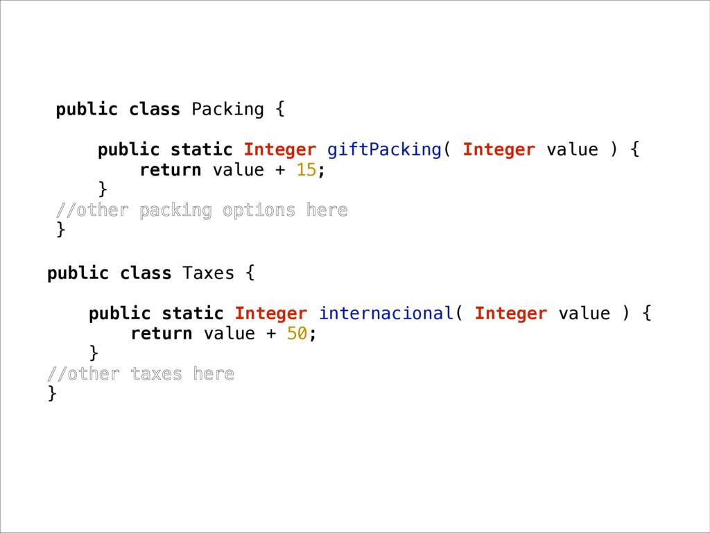 public class Packing { public static Integer gi...