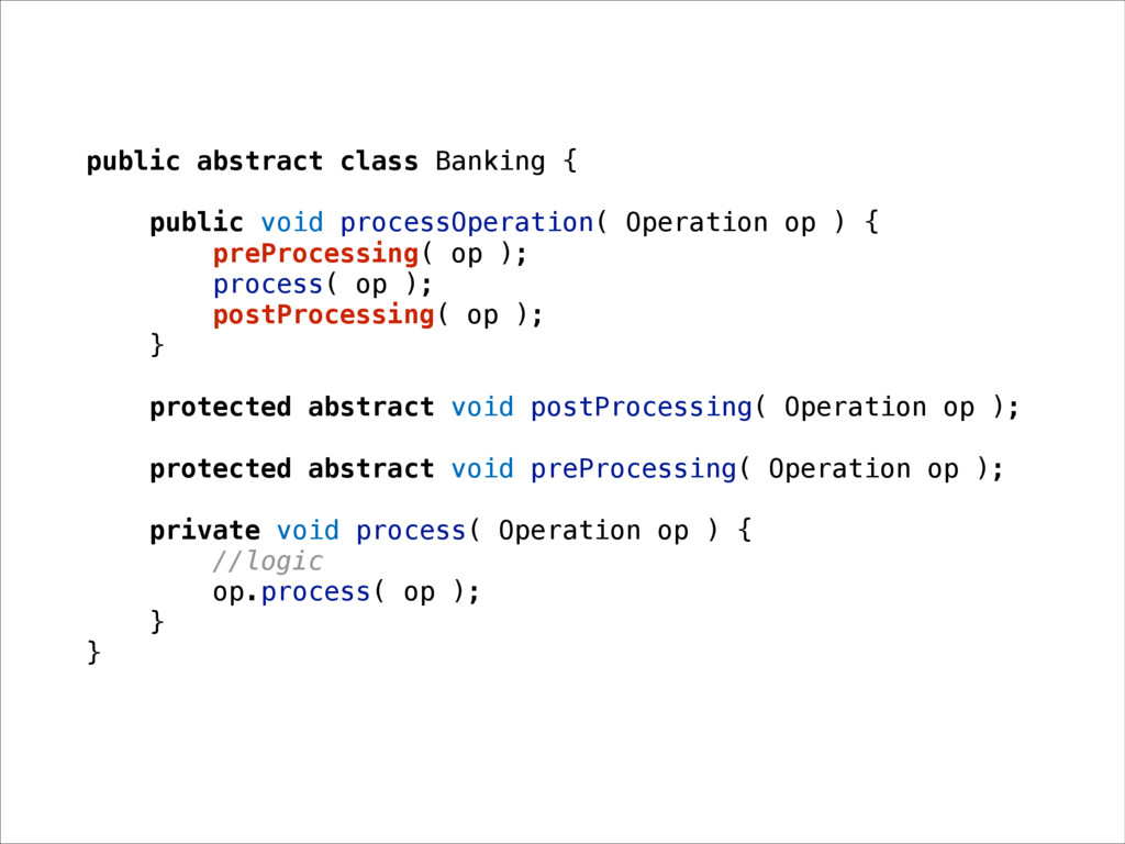 public abstract class Banking { public void pro...