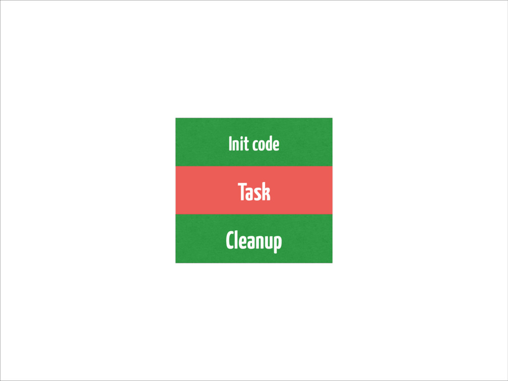 Init code Task Cleanup