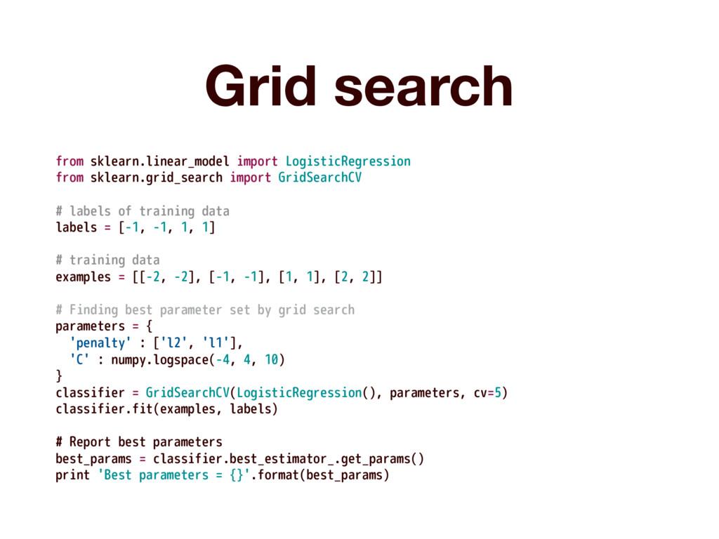 Grid search from sklearn.linear_model import Lo...
