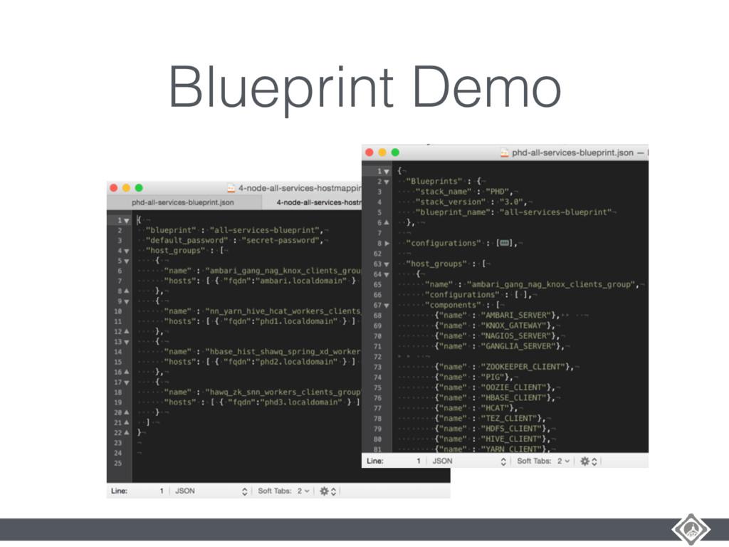 Blueprint Demo