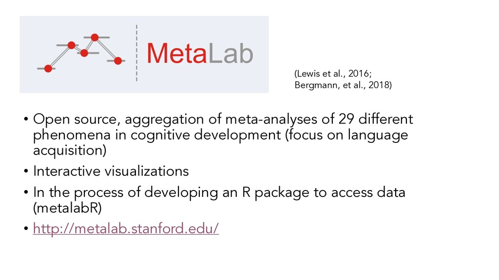 • Open source, aggregation of meta-analyses of ...