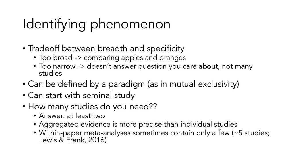 Identifying phenomenon • Tradeoff between bread...