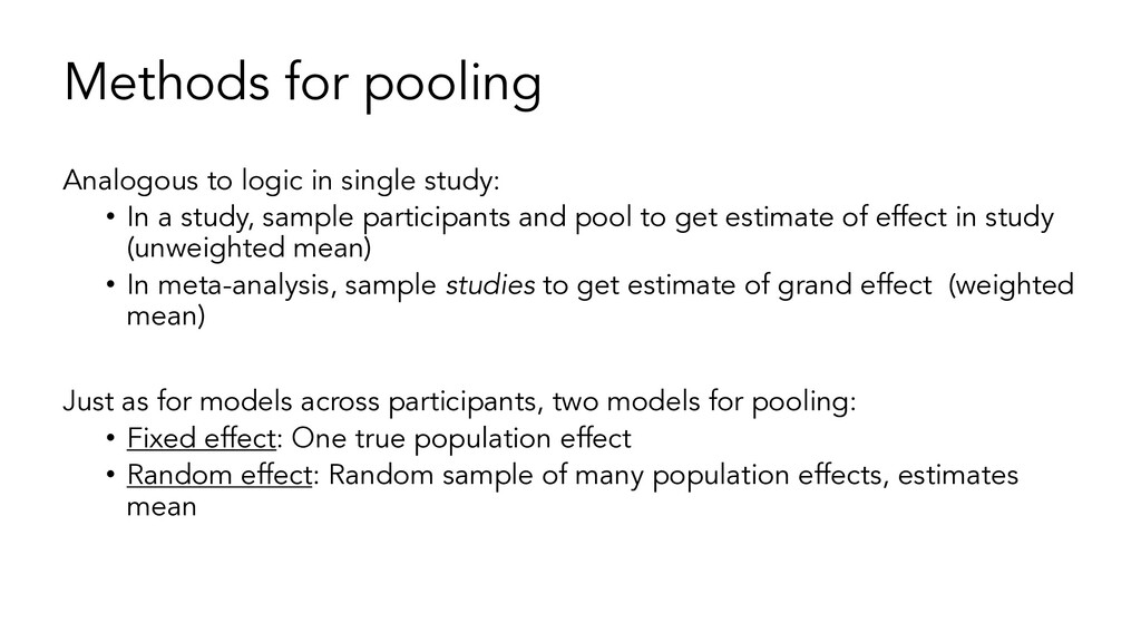Methods for pooling Analogous to logic in singl...