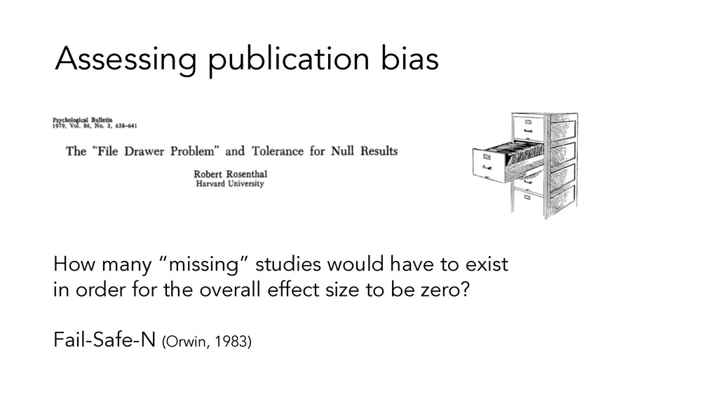 "Assessing publication bias How many ""missing"" s..."