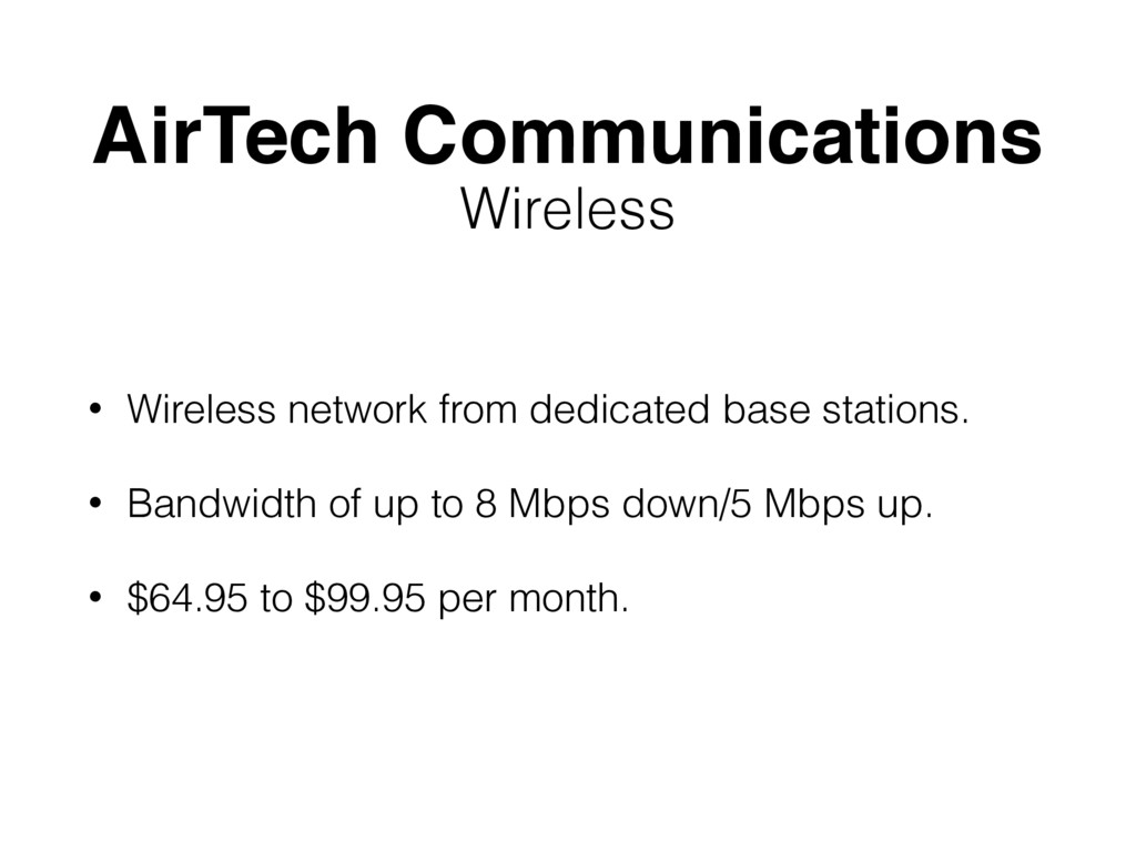 AirTech Communications • Wireless network from ...