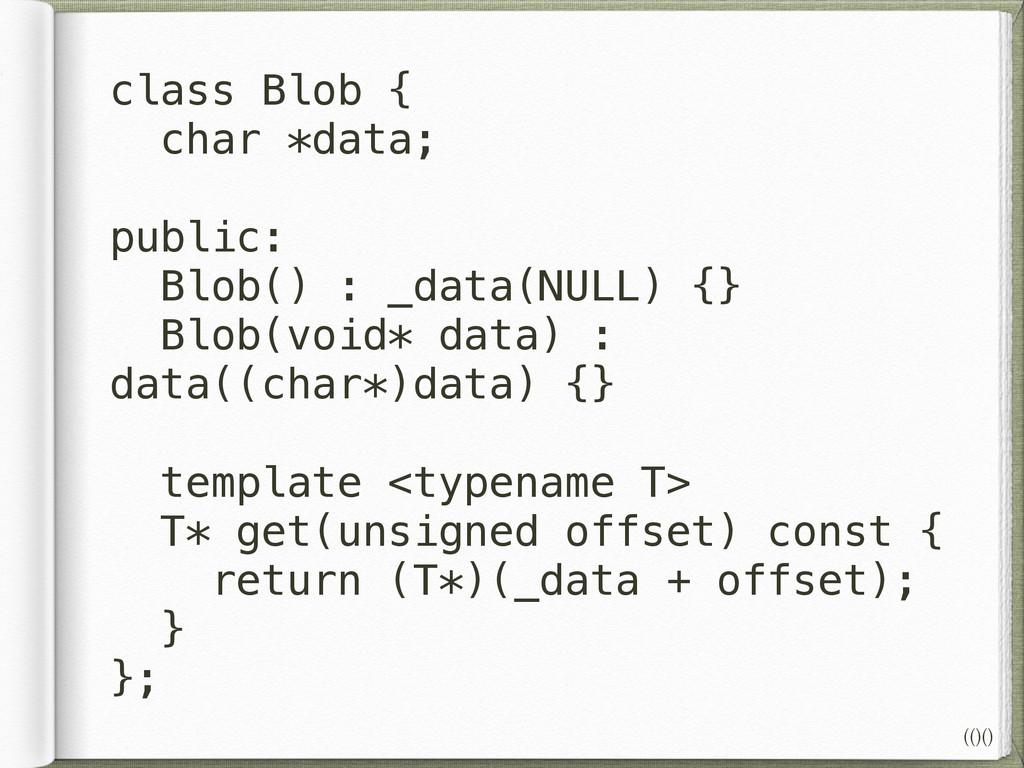 class Blob { char *data; ! public: Blob() : _da...