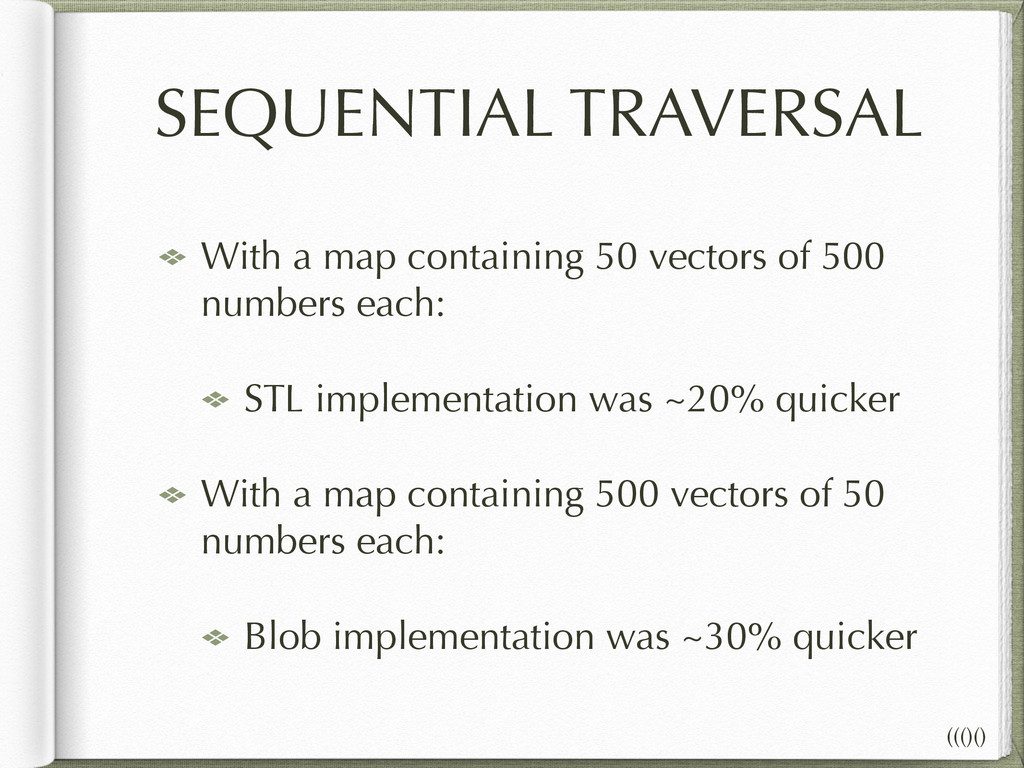 SEQUENTIAL TRAVERSAL With a map containing 50 v...