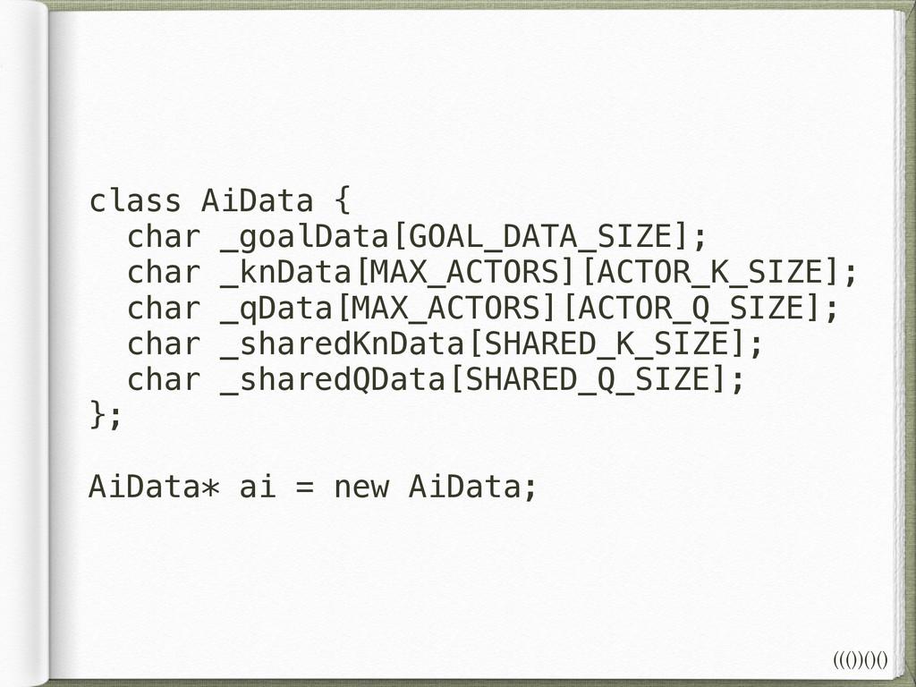 class AiData { char _goalData[GOAL_DATA_SIZE]; ...