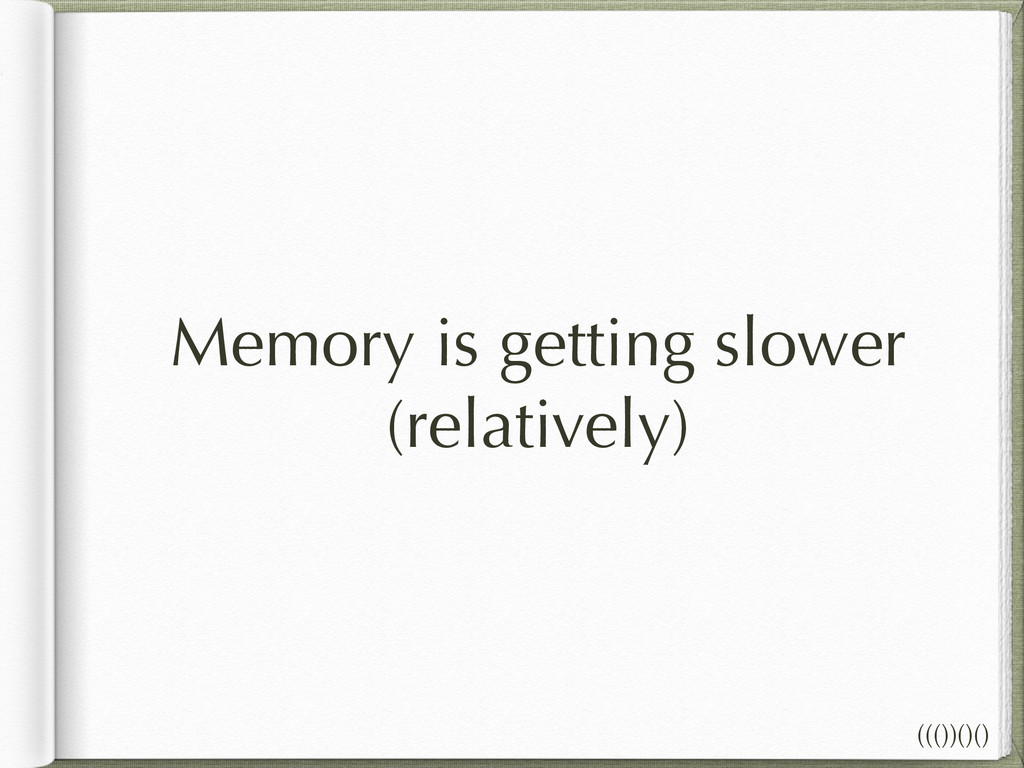 Memory is getting slower (relatively) ((())()()