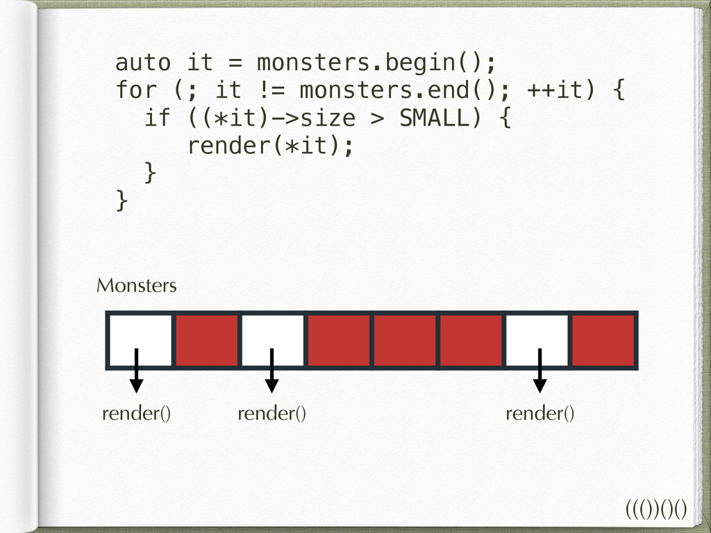 Monsters auto it = monsters.begin(); for (; it ...