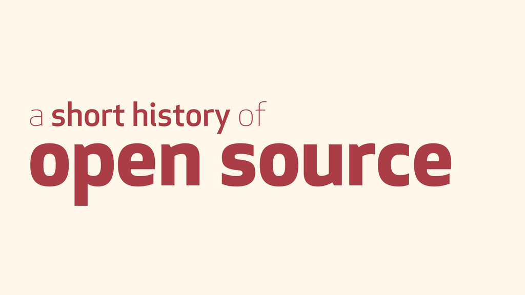 a short history of open source