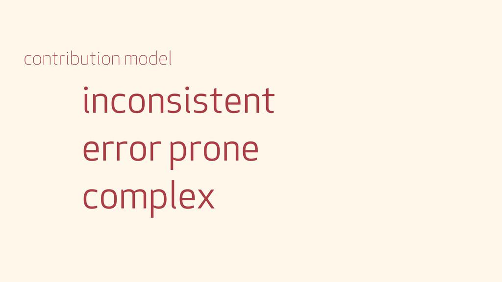 inconsistent error prone complex contribution m...