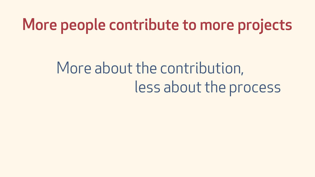 More people contribute to more projects More ab...