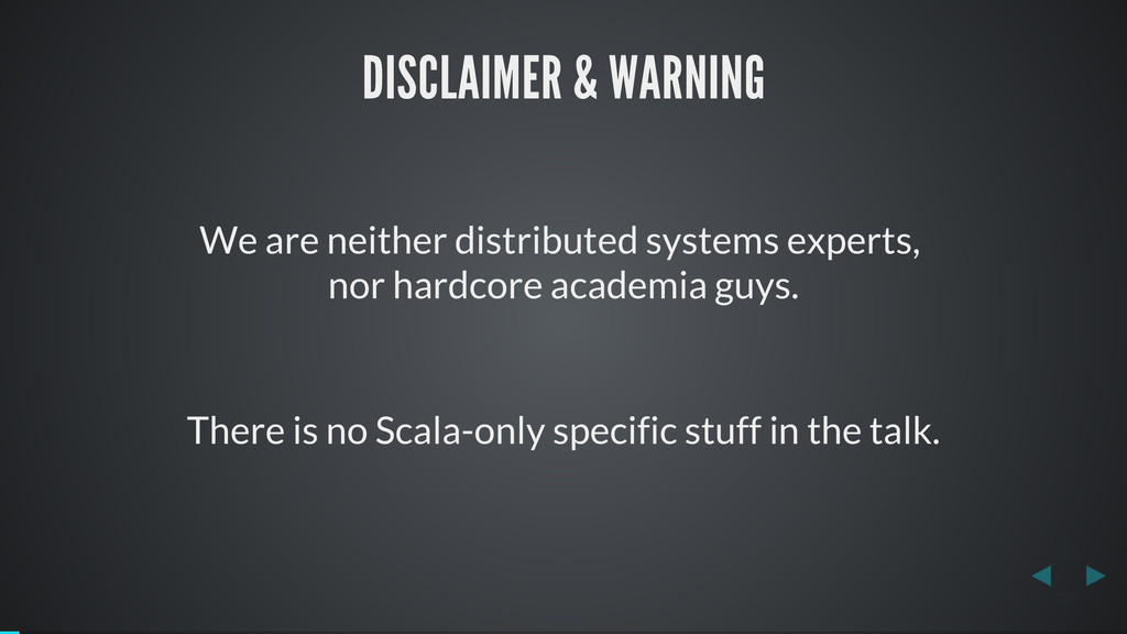 DISCLAIMER & WARNING We are neither distributed...