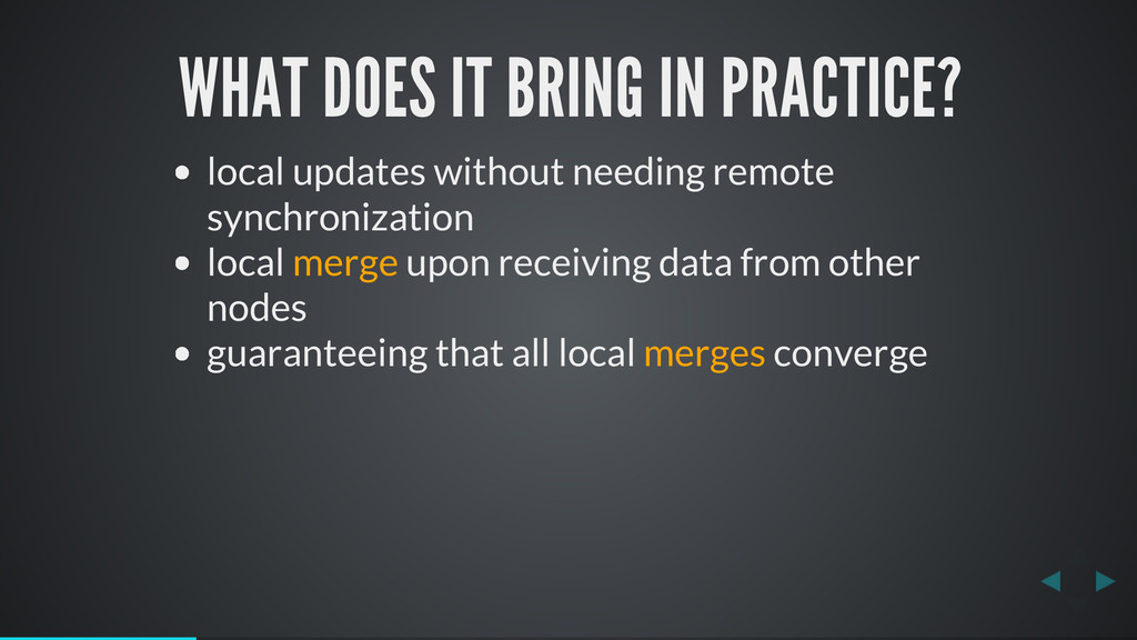 WHAT DOES IT BRING IN PRACTICE? local updates w...