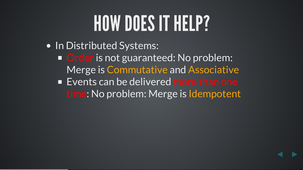 HOW DOES IT HELP? In Distributed Systems: Order...