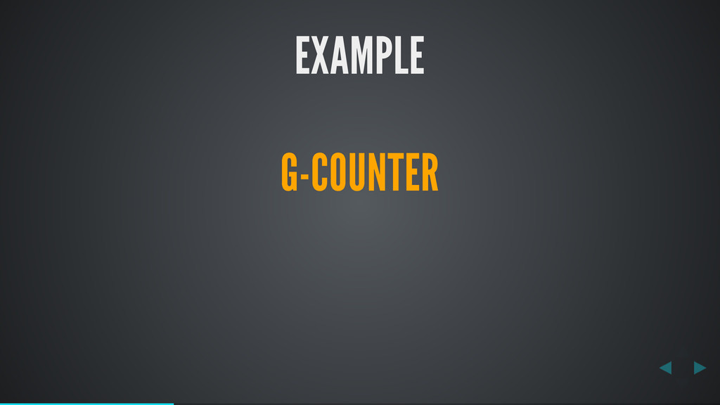 EXAMPLE G-COUNTER